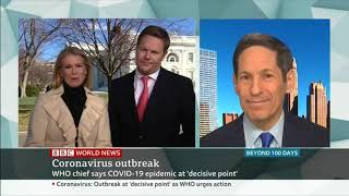 Dr. Tom Frieden on BBC World News discussing Coronavirus