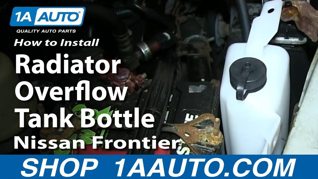 How To Install Replace Radiator Overflow Tank Bottle 1999-04 Nissan Frontier