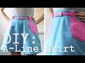 DIY: A-Line Skirt with Pockets & Belt