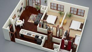 2bhk Latest Modern House Plan Design Ideas 2019 | 3d 2bhk House Plans