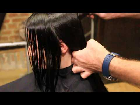 Female haircut, blow dry, style, final touch