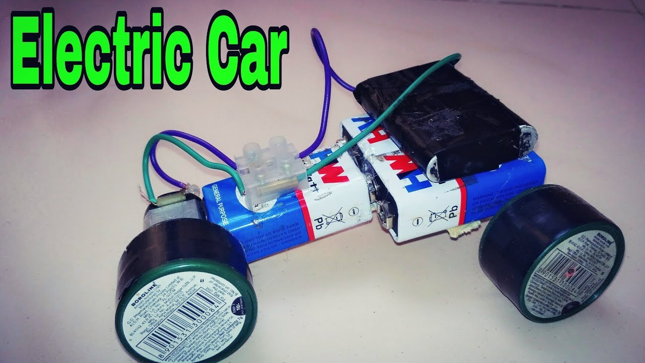 How To Make A Simple Electric Car Homemade Mini Car Youtube