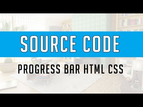 Progress bar using html and css ( Source Code )