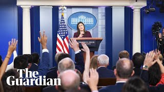 Video Sarah Sanders says she can't guarantee there's no tape of Trump using N-word download MP3, 3GP, MP4, WEBM, AVI, FLV Agustus 2018