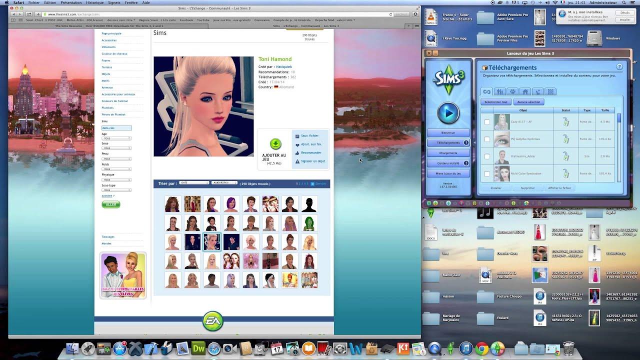 Tuto t l charger v tement coiffures et accessoire sur les for Sims 4 meuble a telecharger