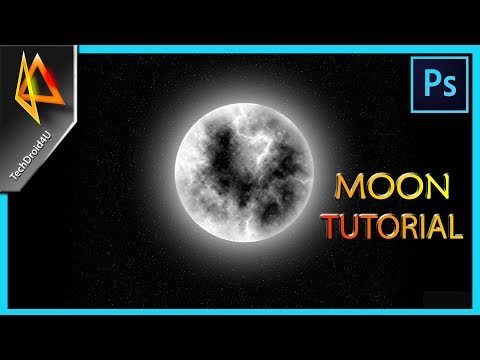 How to Create Moon in Photoshop CC 2017 ; Moon tutorial photoshop ; Techdroid4u