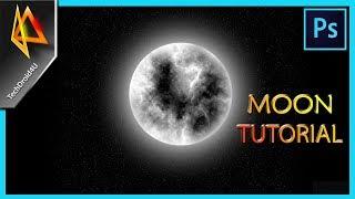 Comment Créer de la Lune dans Photoshop CC 2017 ; Lune tutoriel photoshop ; Techdroid4u