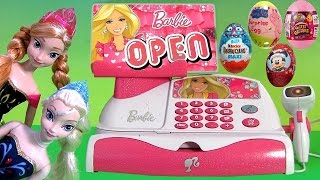 Barbie Cash Register Toy App Checkout Toy App-Rific Disney Princess Anna Elsa Surprise Frozen