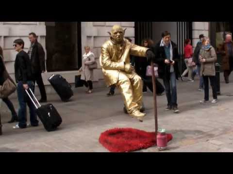 The Floating and Levitating Man. Covent Garden. London. Street Performer