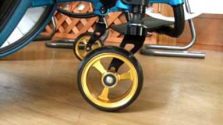 OX製車椅子の「4DCSキャスターブラケット」に装着出来るよう、フログレ...