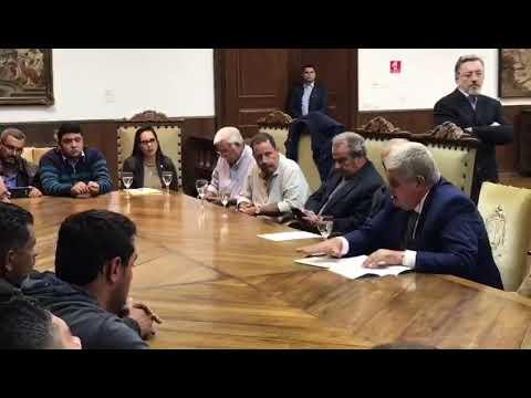 Márcio França encerra noite de negociações com ministro Marun