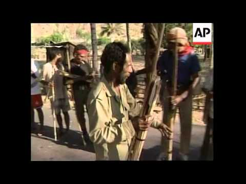 EAST TIMOR: VILLAGERS FORMING DEFENCE FORCES