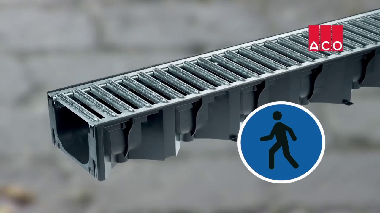how to install aco hexdrain drainage channels tutorial