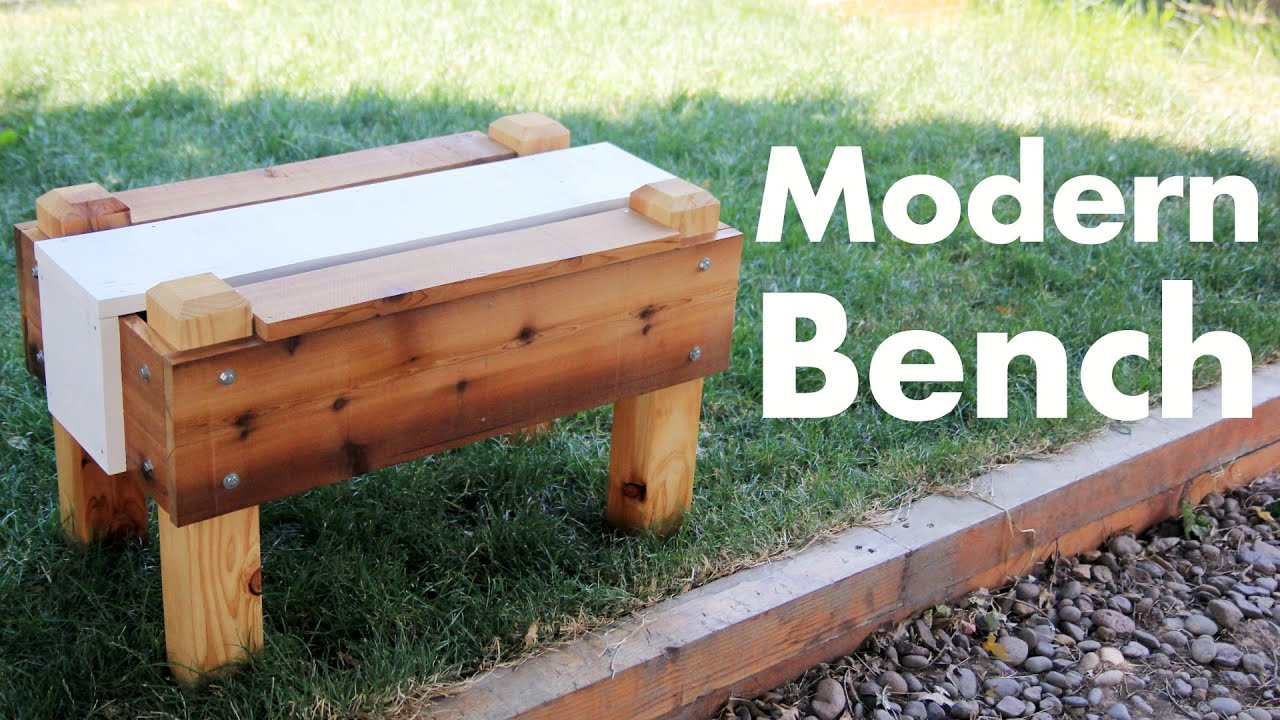 Modern outdoor bench - Building A Modern Outdoor Bench