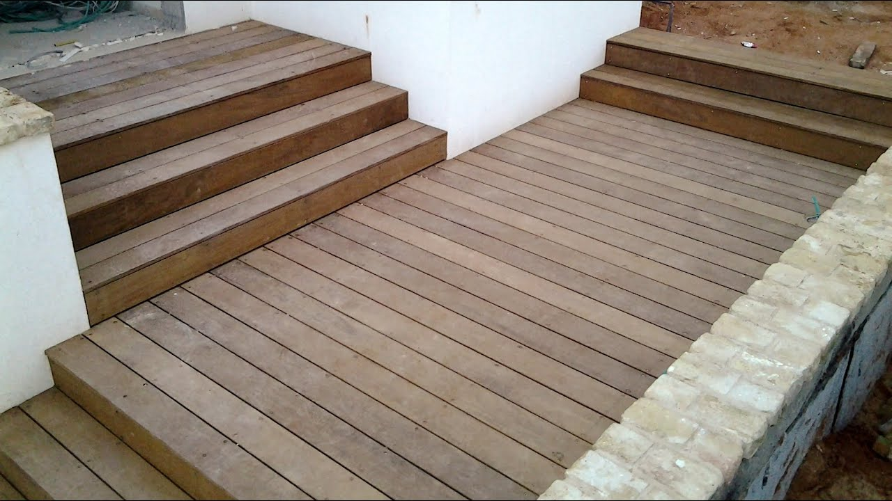 Garden Decking Stairs Made With Ipe Hardwood(1 Of 2)