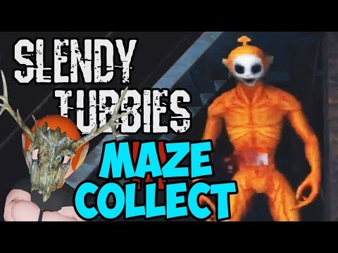 STAY AWAY FROM MY CUSTARDS! | SLENDYTUBBIES 3 - THE MAZE | COLLECT 25 ( SOLO ) | ORANGE TUBBY RAGE!!