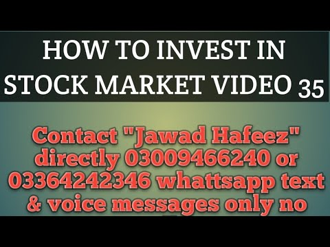 HOW TO INVEST IN PAKISTAN STOCK MARKET video 35