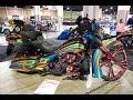 Variegated Harley Davidson Aerography custom bagger