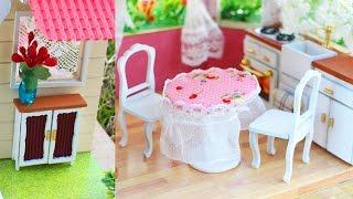 DIY Miniature Dollhouse furniture (5 Crafts) - PART1 - Easy Doll Crafts