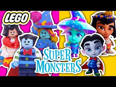 LEGO TOYS into SUPER MONSTERS 🧛♂️CLEO, DRAC & KATYA 🧙♀️ Toy Transformations!