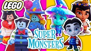 LEGO TOYS into SUPER MONSTERS 🧛‍♂️CLEO, DRAC & KATYA 🧙‍♀️ Toy Transformations!