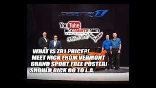 WHAT IS 2019 ZR1 PRICE?! *** NICK FROM VT *** SHOULD I GO TO LA?