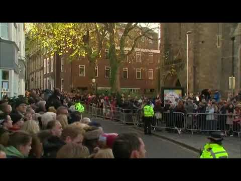 Prince Harry And Megan Markle on first official visit in Nottingham