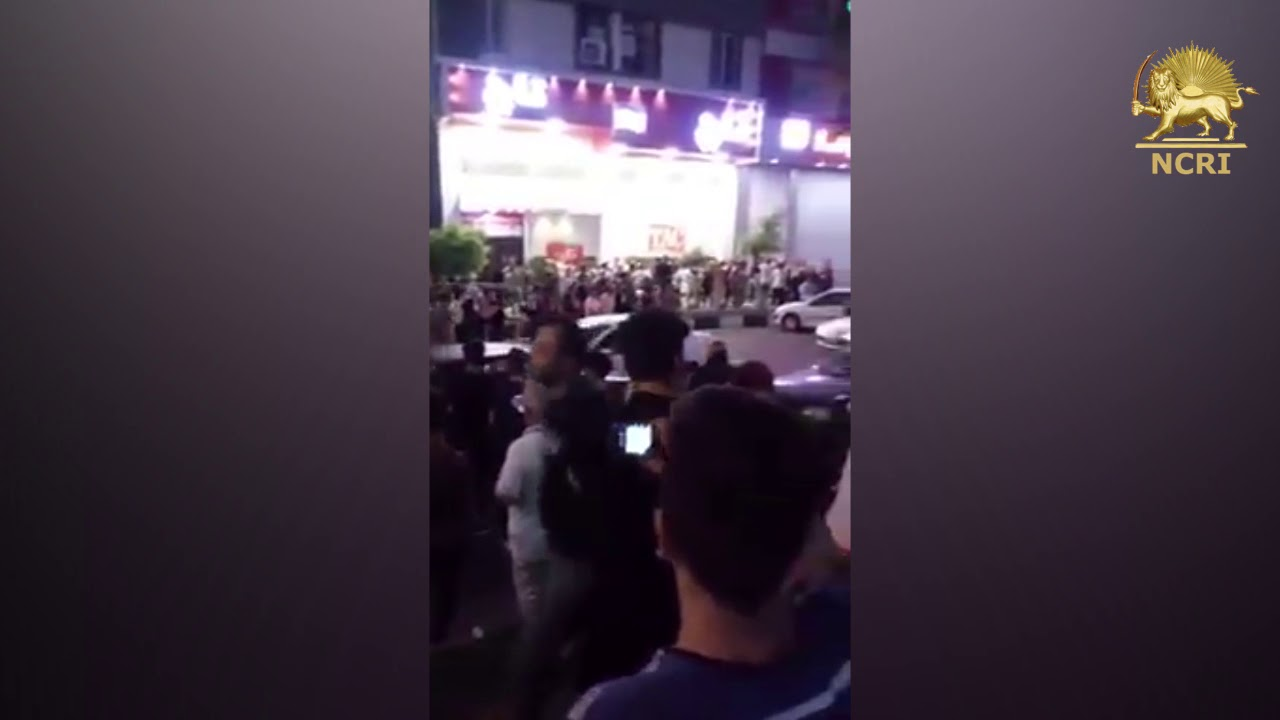 "GOHARDASHT-KARAJ, #Iran. August 3, Protesters chanting: ""DOWN WITH #KHAMENEI"""