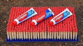 Experiment: 5000 MATCHES VS COLGATE !  Amazing Crazy Experiment