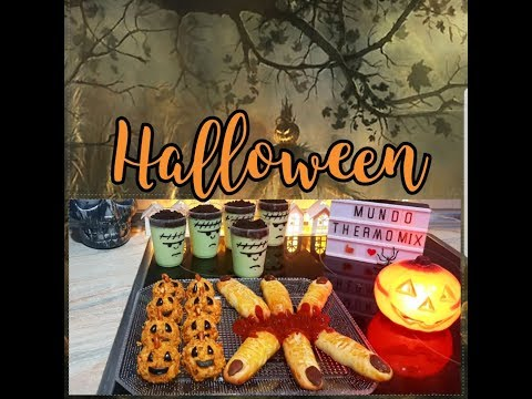 Recetas Halloween Thermomix / Dedos halloween/ Natillas halloween/ Calabazas halloween