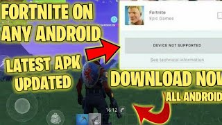 Fortnite android not supported! Fix solution 100% works!2019