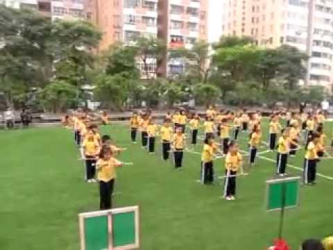 Thể dục với gậy - HKPĐ 2011 (Trường tiểu học Ngôi sao Hà Nội) - YouTube.FLV