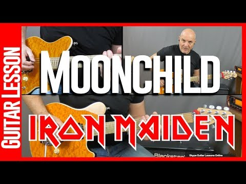Moonchild By Iron Maiden - Guitar Lesson Tutorial - All Sections mp3