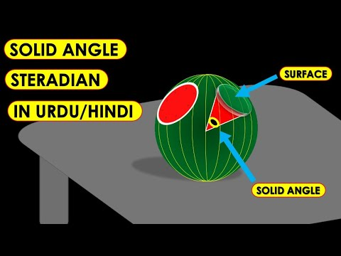 steradian as unit of solid angle in urdu animated