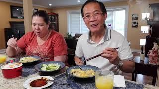 VLOG 553 ll bữa ăn đạm bạc của vợ chồng và câu chuyện những gì đang xảy ra trên đất nước Mỹ