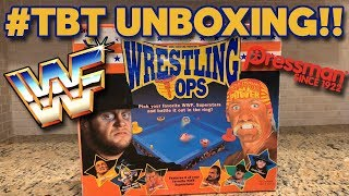 TBT UNBOXING!! Vintage WWF Wrestling Tops Game Featuring Hulk Hogan & The Undertaker!! Toy Review!!