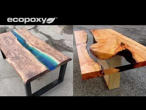 에코폭시(EcoPoxy)를 활용한 에폭시 리버 테이블, 레진 테이블!!! 협신물산에서 만나보세요!