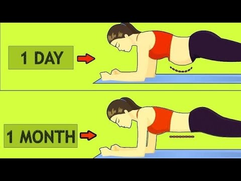 How To Get A Flat Stomach In A Month At Home Without Equipment- Abs Workout Planking By Healthpedia