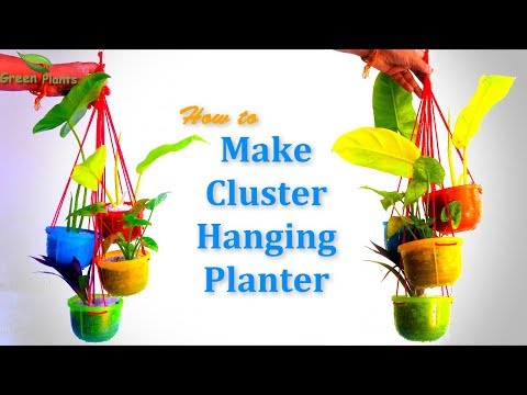 How to Make Cluster Hanging Planter   Planter Ideas //GREEN PLANTS