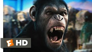 rise of the planet of the apes 15 movie clip   caesar speaks 2011 hd