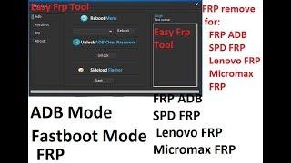 Easy Frp Tool  Lenovo FRP  Micromax FRP andriod phone frp remove tool 2018