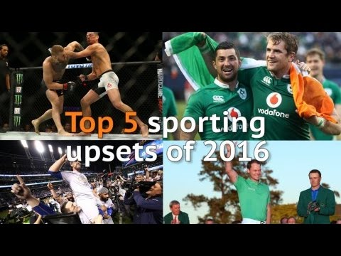 Top five sporting upsets of 2016