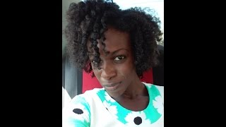Lottabody setting lotion on Natural hair