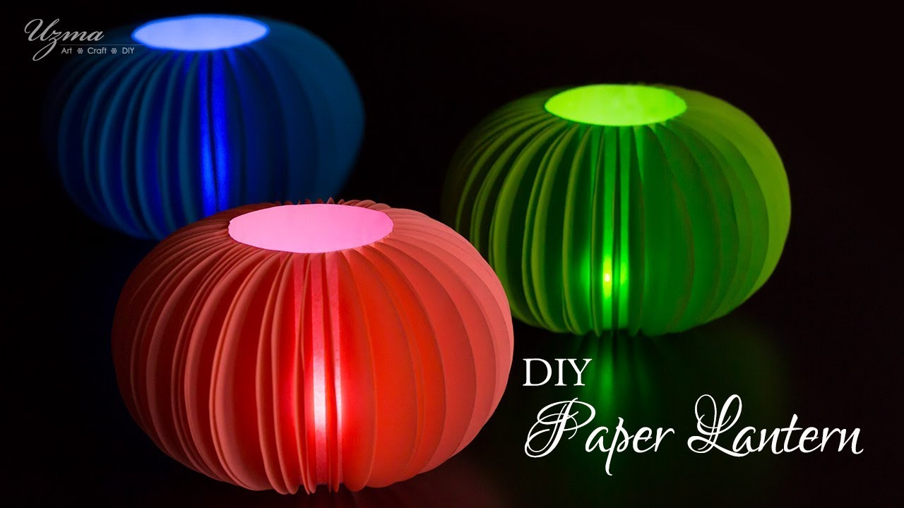 DIY Diwali Decoration Ideas | Paper Lantern | Lampshade - YouTube for Diy Paper Lamp Ideas  61obs