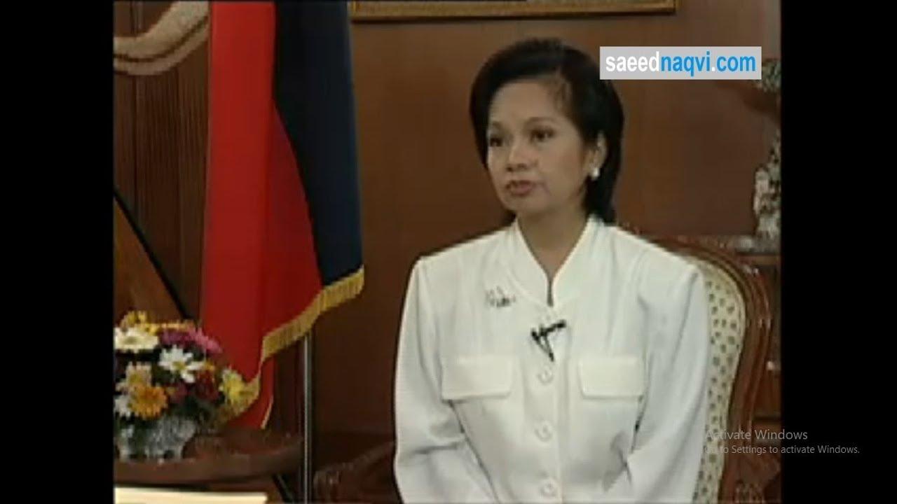 Gloria Macapagal Arroyo interview with Saeed Naqvi   22-04-2001