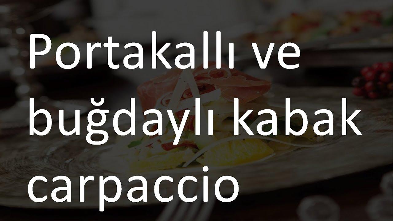 KABAK CARPACCİO TARİFİ