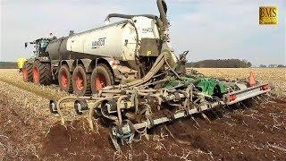 Gülle fahren CLAAS XERION 4000 Kaweco Fass 8,6m Samson Grubber / LU Prilop / Slurry tractor LKW
