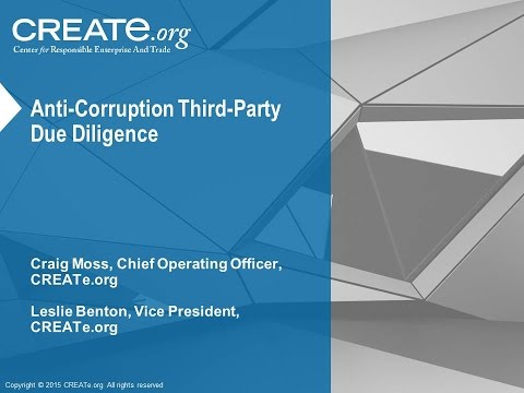 Anti-Corruption Third-Party Due Diligence
