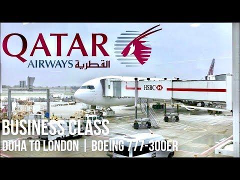 Qatar Airways Business Class Doha to London | Boeing 777-300ER