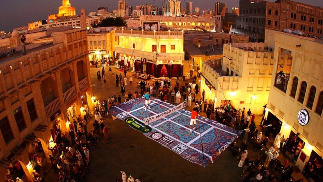 Souq Waqif, standing market, Doha in Qatar, restaurants, Shisha lounges,  garments, spices